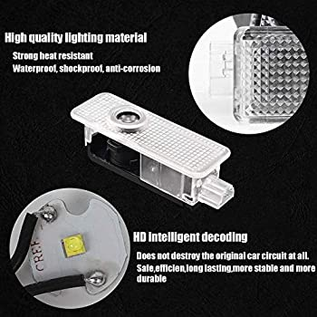 WeTest Upgrade LED Car Door Light Projector Courtesy LED Laser Welcome Lights Ghost Shadow Light Logo Lamps for The Replacement of BMW 3//5//6//7//Z//GT Mini 4 Pack