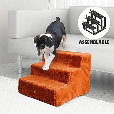 Namsan Escalera para perros, escalera para gatos, fácil montaje, escalera para mascotas, con funda de felpa lavable para sofá/cama: Amazon.es: Productos para mascotas