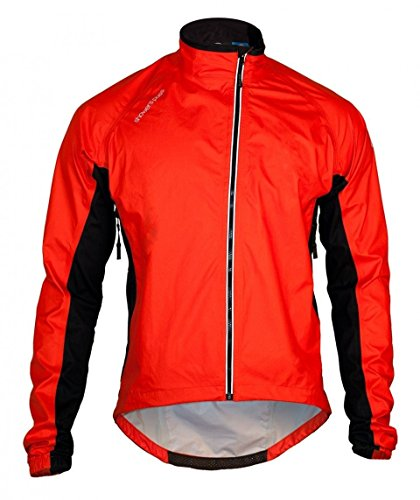 Showers Pass Men's Lightweight Breathable Spring Classic Waterproof Jacket (Cayenne Red - X-Large)
