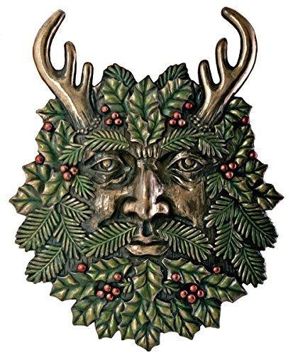 Greenman Spring Plaque Fantasy Designer Decoration Collectible