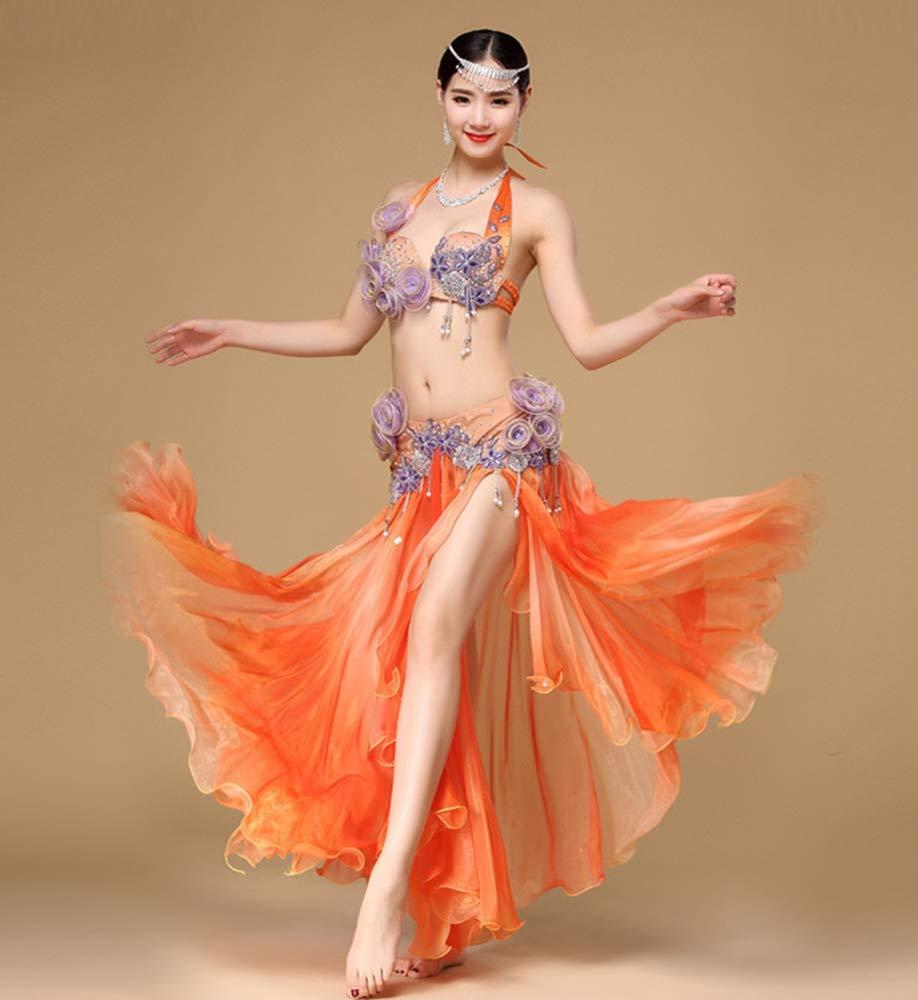 【新作入荷!!】 In world オレンジ 高品質 ベリーダンス インドダンス 2色 上下セット 優雅 セクシー セクシー 高品質 豪華 ダンス衣装 B07JBWKZ5X オレンジ オレンジ, サンワダイレクト:3135b0ee --- a0267596.xsph.ru