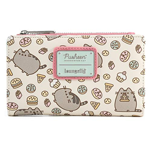 Loungefly Pusheen the Cat Snacks All Over Print Faux Leather Wallet