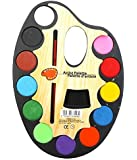 Lukzer Large Artistic Palette Water Colour Set Of 12 With One Artist Paint Brush For Kids