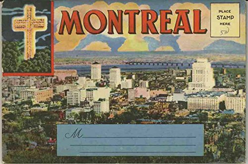 Montreal Canada - 1942 Souvenir Postcard Folder - International Fine Art Co, Ltd.