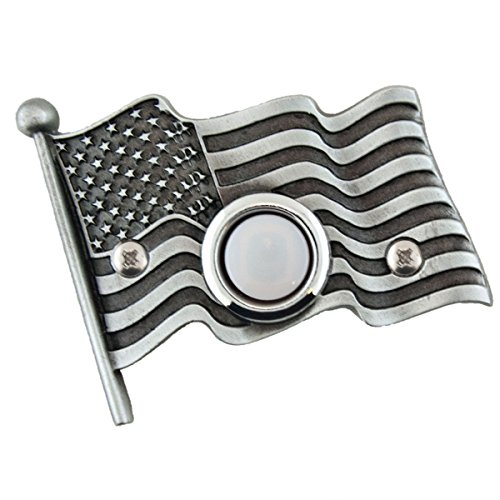 (American flag Decorative Doorbell with lighted button)