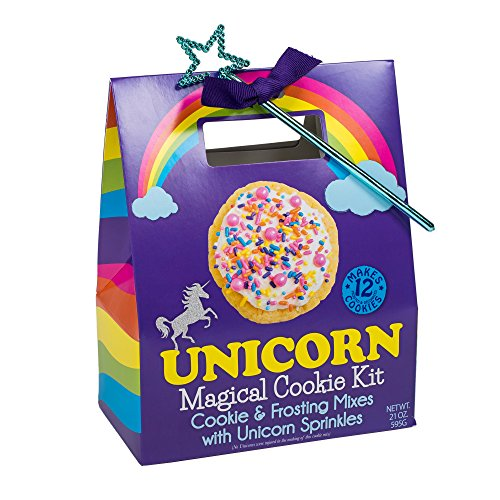 Unicorn Magical Cookie Mix and Sprinkles with Star Wand Carry Out Box Set by Pelican Bay
