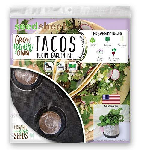 Grow Your Own Tacos Garden Seedsheet - AS SEEN ON SHARK TANK- Fast-Growing Organic NonGMO Recipe Garden Kit