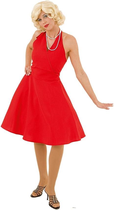 50er disfraz de Marilyn Monroe con vestido rojo años - patrón de ...