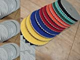 7'' 7 Inch / 180mm Diamond Damo Polishing Pad 20 Pieces Granite Marble Concrete