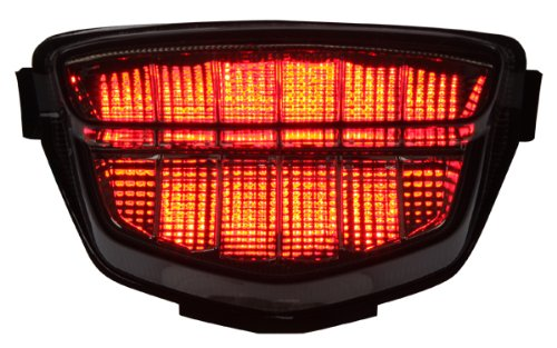2008-2016 Honda CBR-1000RR Integrated Sequential LED Tail Lights Smoke Lens