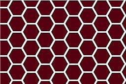 SheetWorld Crib / Toddler Sheet - Burgundy Honeycomb - Made In USA