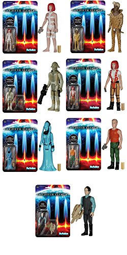 Fifth Element Straps Leeloo, Zorg, Mangalore, Korben, Ruby Rhod, Leeloo, Diva Plavalaguna ReAction 3 3/4-Inch Retro Action Figures Set of 7
