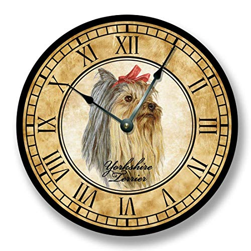 (Fancy This Yorkshire Terrier Dog Wall Clock Antique Decor)