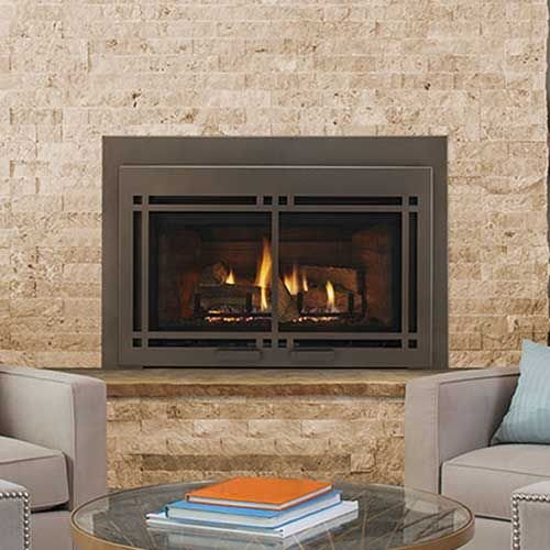 Large Direct Vent Gas Insert w/IntelliFire Plus Ignition System - NG (Gas Inserts Fireplace Vent Direct)