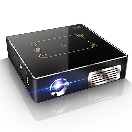 WAYPGC Mini proyector portátil, batería de Gran Capacidad, WiFi ...