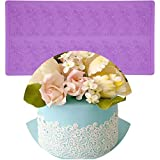 Anyana sugar edible cake silicone fondant impression lace mat cake decorating mold gum paste cupcake topper tool icing candy imprint baking moulds sugarcraft trimming leaf
