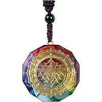XQK Collar con Colgante De Orgonita, Cristal Natural Ágata Grava Geometría Sagrada Energía Meditación Joyería Mujeres…