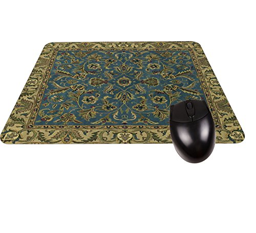 Blue Oriental/Persian Rug-Mat- Square Mousepad - Stylish, Durable Office Accessory Made in the USA