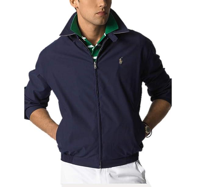 Polo Ralph Lauren Hombre Chaqueta del Windbreaker Landon algodón popelín X-Large Aviatr Marina: Amazon.es: Ropa y accesorios