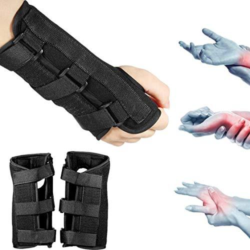 (Marketworldcup 1 Pair Carpal Tunnel 2 Wrist Brace Support Sprain Forearm Splint Band Strap Bar)