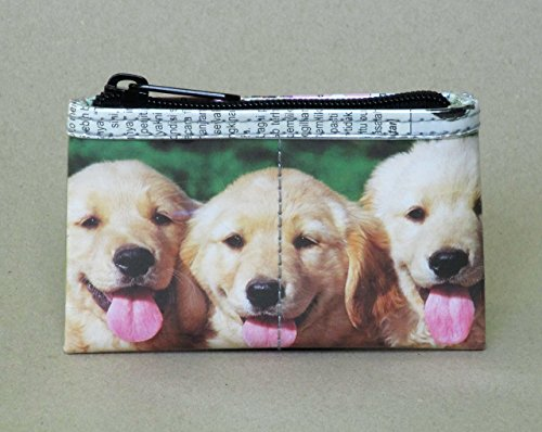 Zip coin purse for dog lovers - Free standard shipping - Upcycling by Milo