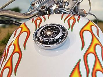 Amazon Com East Coast Vinyl Werkz No 28 Green Pinstripe Old School Flame Decals For Motorcycle Tank Fenders Helmet Automotive