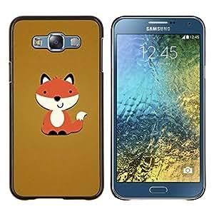 Stuss Case / Funda Carcasa protectora - Marrón Naranja de dibujos animados divertido dulce - Samsung Galaxy E7 E700