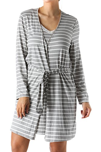 hristian Siriano New York Kimono Robe / Bath Robes for Women (Stripe Kimono Robe)