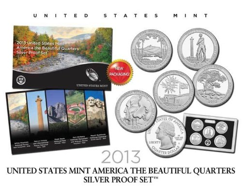2013 S US Mint America the Beautiful Quarters Silver Proof Set™ Original Government Packaging
