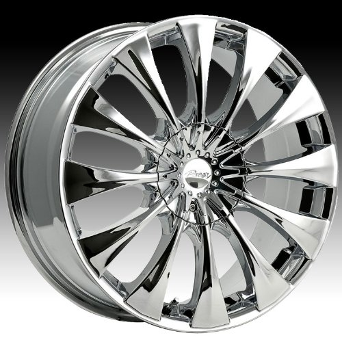 Pacer Silhouette 20x8.5 Chrome Wheel / Rim 5x115 & 5x120 with a 40mm Offset and a 74.10 Hub Bore. Partnumber 776C-2855540