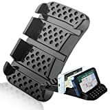 SlipToGrip - Dash and Counter Smart Cell Phone Sticky Pad Holder with Multiple Angle Viewing. Eliminates Glare. Use GPS w/Phone . Watch movies. WON BEST NEW DESIGN.