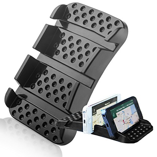 SlipToGrip - Smart Cell Phone Sticky Pad Holder with Multiple Angle Viewing. Eliminates Glare. Use GPS. Surface Grip and Stand. Mount at Angle. Won Best New Design.
