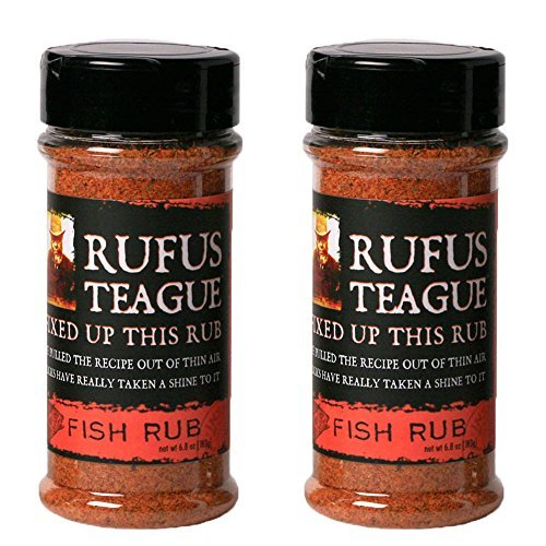 Rufus Teague Gourmet Rubs - No MSG - Gluten Free - OU Kosher - Specialty Fish Rub (2 Pack) (6.8 oz each) by Crafted Kosher ()