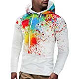 kemilove Mens Autumn Ink-Printed Sweater 3D Printed Long Sleeve Pullover Coat
