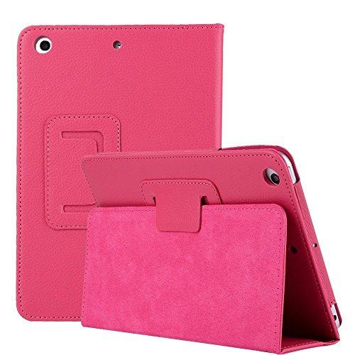 Case for iPad Mini 4 7.9 inch Cover, MeiLiio Premium Folio Case Book Design Cover Ultra Slim Smart Stand Case for iPad Mini 4 7.9 inch Tablet Screen Protector Case (Hot Pink)