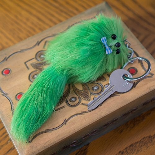 3 FOR 2! Green Fluffy Soft Fur Luggage Keyring Travel Pet Suitcase Bag Woman's Vintage Unique Gift, Cute Fashion Neon Emo Goth Punk Key chain Ferret Girls Fashion Clothes (Large - Porn Soft Retro