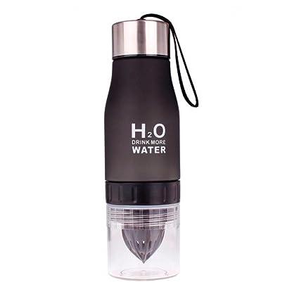STRIR Plástico ecológico y sin BPA botella de agua,650ML BPA free botella agua deporte