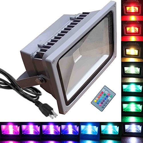 Led 10W Rgb Colour Changing Flood Light Ip65 - 7