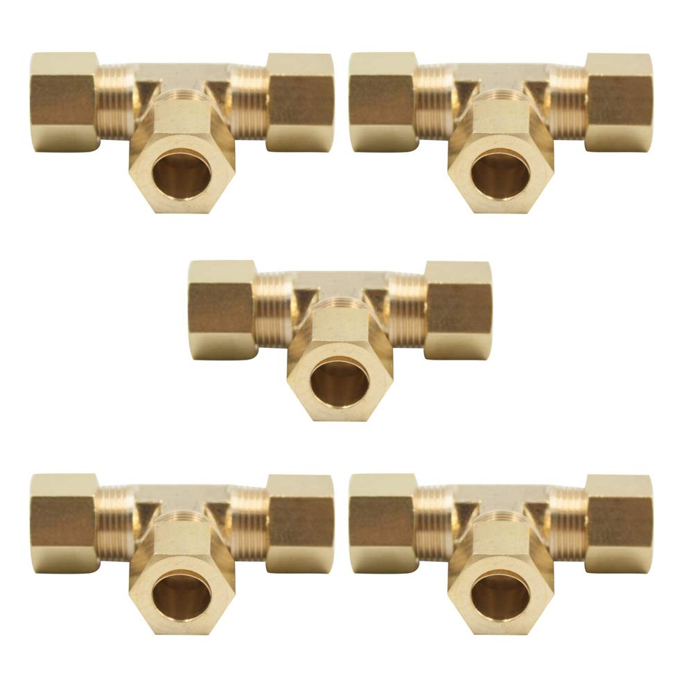 Vis Brass Compression Tube Fitting Pack of 1 Tee 5//16 x 5//16 x 5//16 Tube OD