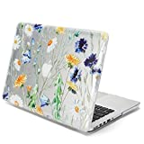 GMYLE Floral Design Pattern Glossy Clear See-through Case forOld MacBook Pro 13 inch with Retina Display (Model: A1425 and A1502) without CD-ROM Drive [2012-2015 Release]