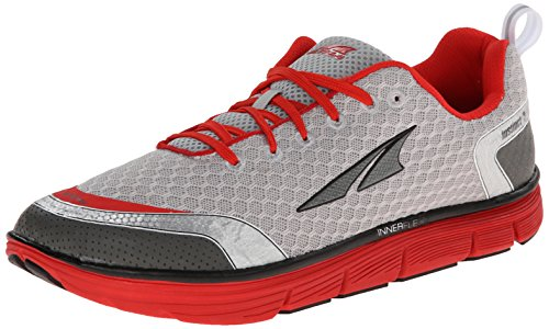 Altra Running Mens Instinct 3 Running Shoe, Silver/Red, 12.5 M US