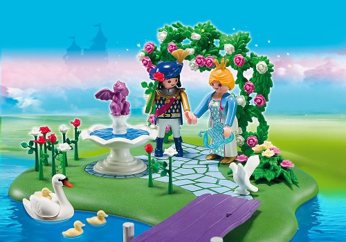 5456 coffret anniversaire ilot des princesses et gondole de playmobil. Black Bedroom Furniture Sets. Home Design Ideas