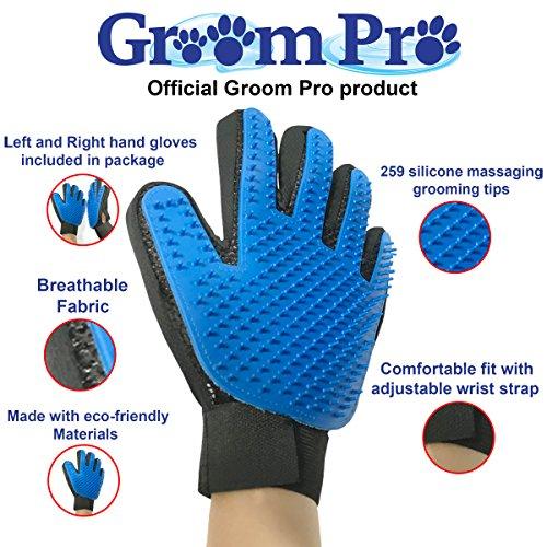 Groom Pro Enhanced Pet Shedding Grooming Gloves