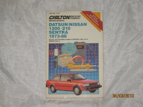 Datsun/Nissan 1200, 210; Sentra 1973-88 Repair Manual, Part No. 7197;