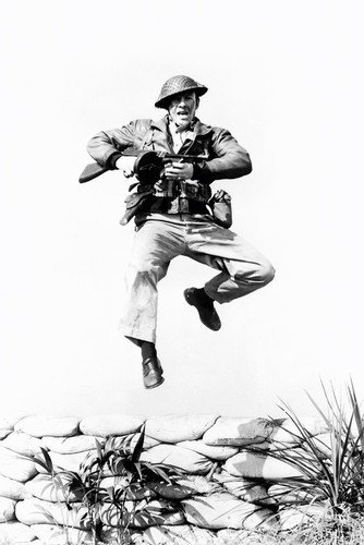 Robert Taylor Bataan 11x17 Mini Poster Leaping in Air With Rifle