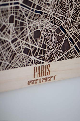 Poster Map of San Francisco Wooden Framed City Map of Vancouver Huston  Boston USA or any other city Decor Picture Laser Cut Wall Poster Art Wood