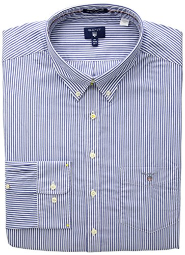 Blue Gant Blau The Camicia Bd Poplin Banker Stripe yale 436 Ls Uomo qTWU7wqSv