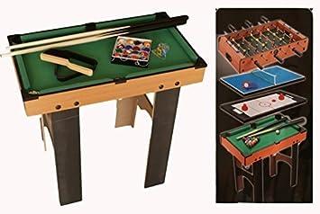 7786c0835e05f GIOCO 4 IN 1 CALCETTO PING PONG BILIARDO HOCKEY  Amazon.it  Giochi e  giocattoli