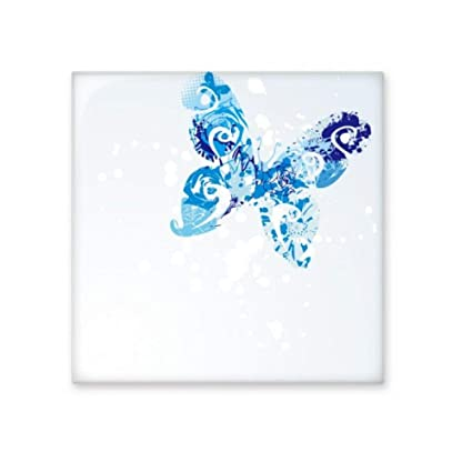 Animal Bleu ciel Papillon voletant Graffiti en céramique ...