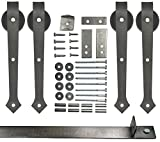 Double Sliding Barn Door Hardware Kit Arrow Design 12 Ft. Track Included - Made in USA